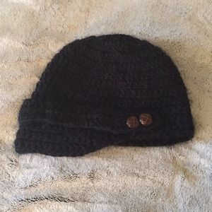Accessories - Black Knit Hat w/ Fleece Lining